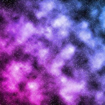 Pink and Blue Nebula by Katayanagi