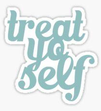 Treat Yo Self Hand Lettering Sticker