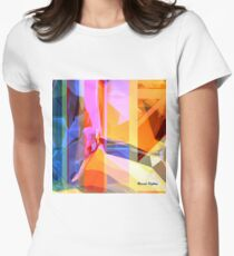 Purple Tower Women's Fitted T-Shirt