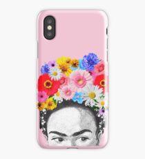 frida kahlo head flowers iPhone Case/Skin