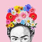 frida kahlo head flowers by NAAY