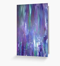 colorful acrylic painting Greeting Card