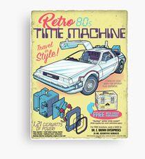 Retro Time Machine Canvas Print