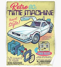 Retro Time Machine Poster