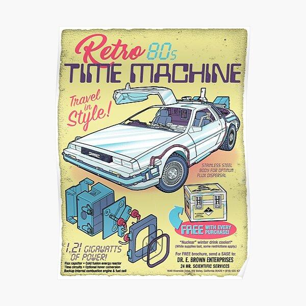 Retro Time Machine Poster