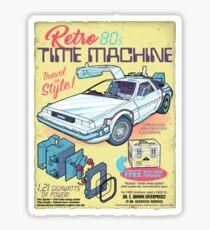 Retro Time Machine Sticker