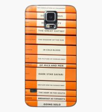 Book Spine Graphic Shirt Case/Skin for Samsung Galaxy