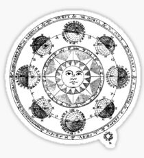 Medieval Astronomical Chart of Planets Sticker