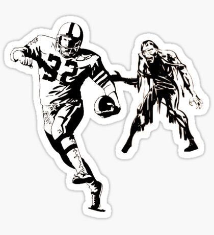 Sunday Funday: Football and Zombies Sticker