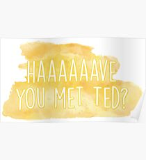 Haaaave you met ted? How I Met Your Mother Poster