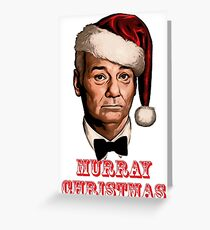bill murray christmas Greeting Card