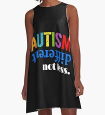 Autism different not less white A-Line Dress