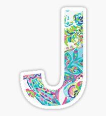 Letter J Sticker