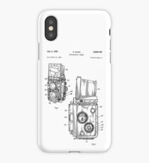Rolleiflex Twin Lens Film Camera Vintage Patent Drawing  iPhone Case/Skin
