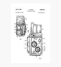 Rolleiflex Twin Lens Film Camera Vintage Patent Drawing  Photographic Print