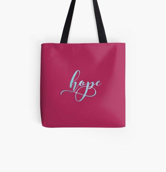 Watercolor Hope All Over Print Tote Bag