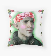 Solas - Flower Crown Throw Pillow