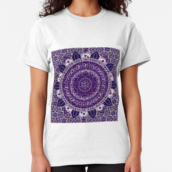 Royal Purple Mandala Classic T-Shirt