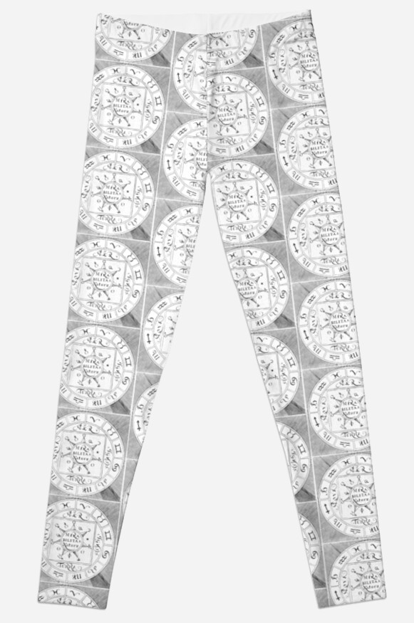 Medieval Alchemy Symbols Leggings By Pixelchicken Redbubble