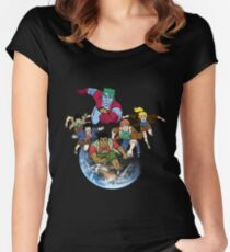Captain planet team Women's Fitted Scoop T-Shirt