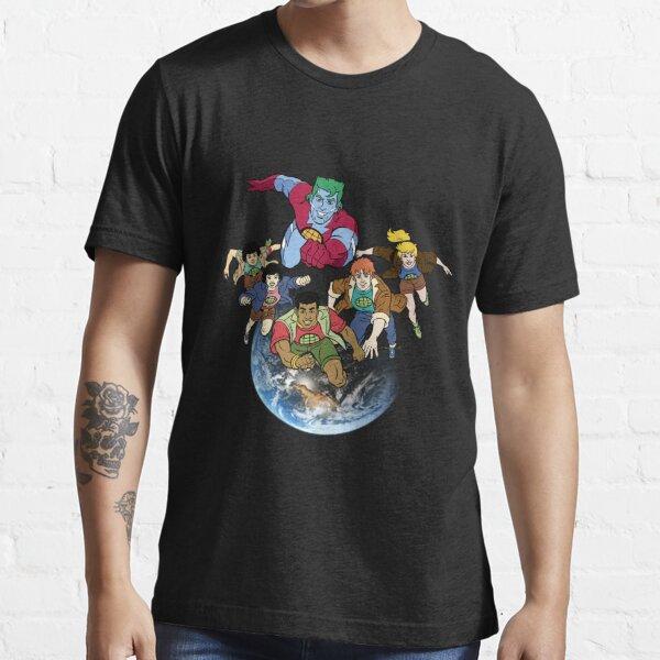 Equipo de Capitán Planeta Camiseta esencial