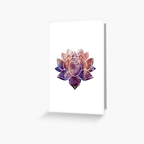 Buddhist Lotus Flower Greeting Card