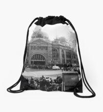 Flinders Street Station, Melbourne Drawstring Bag