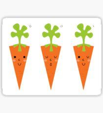 Cute Carrot cartoon collection : bright Carrots Sticker