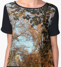 Fall Trees Chiffon Top