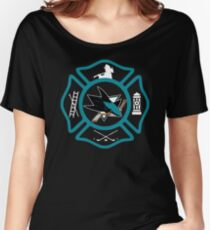 San Jose Fire - Sharks style Women's Relaxed Fit T-Shirt