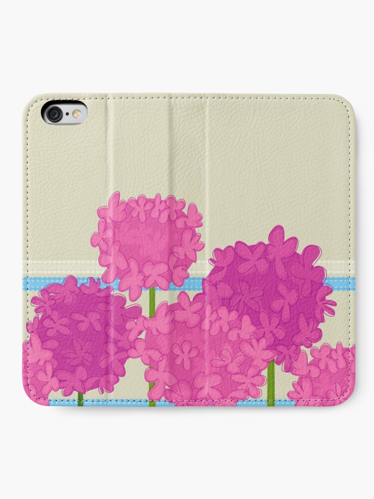 Alternate view of Pink Hydrangeas iPhone Wallet