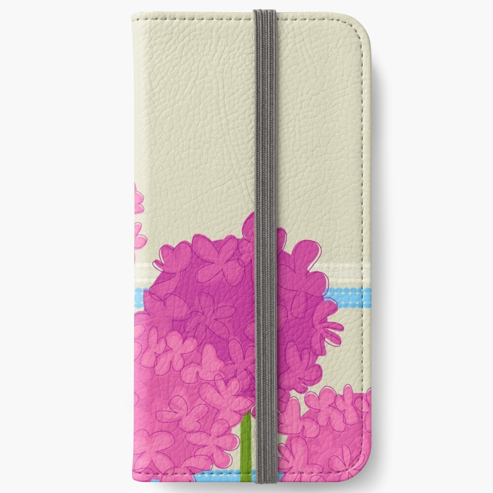 Pink Hydrangeas iPhone Wallet