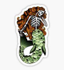Skeletal Mermaid Sticker