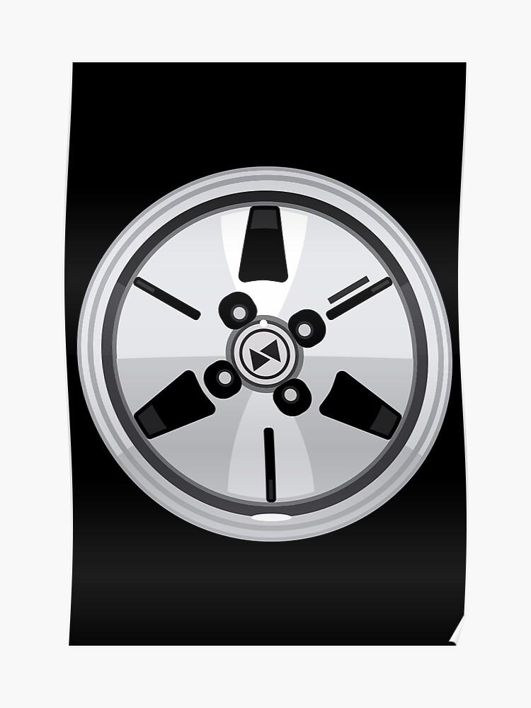 Wheel Design Retro JDM Advan Racing Dish | Poster
