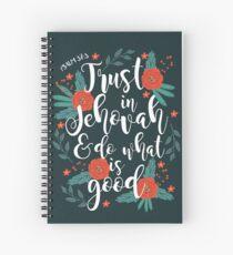 2017 YEAR TEXT (Floral) Spiral Notebook