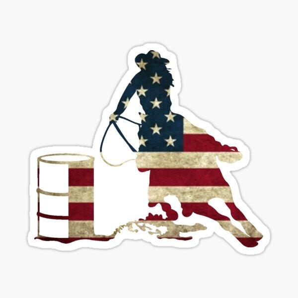 USA Barrel Racing Sticker