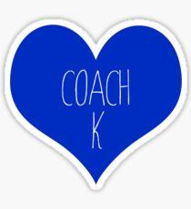 coach k duke blue devils  Sticker
