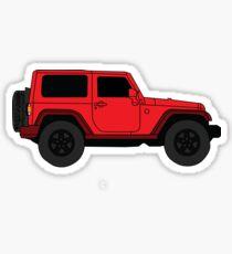 Pegatina Red Jeep