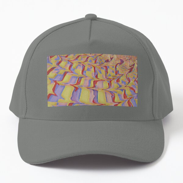 Faded Red, Mustard Yellow and Purple Lavender Combo of Movement Baseball Cap