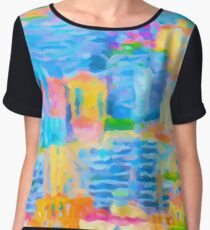 Monaco Abstract Women's Chiffon Top