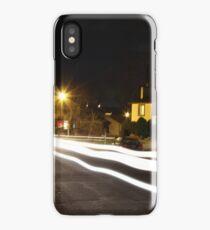 Long Exposure White Light Neighborhood.  iPhone Case