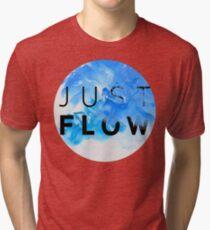 JUST FLOW BLUE Tri-blend T-Shirt