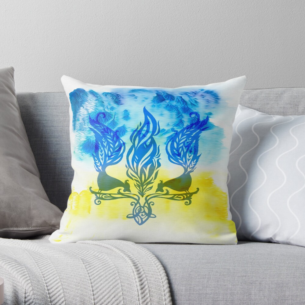 Trident Throw Pillow