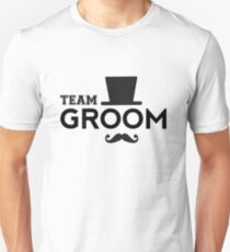 Team Groom t-shirt with hat and mustache T-Shirt