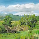 New Day at Kawanui (Right Panel of Triptych) by Wendy Roberts