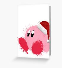 Kirby Splatter Christmas ~ ☆ Greeting Card