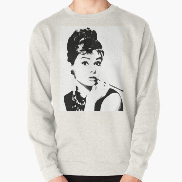 Audrey Hepburn Portrait Art Pullover Sweatshirt
