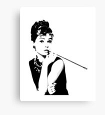Audrey Hepburn Portrait Art Canvas Print