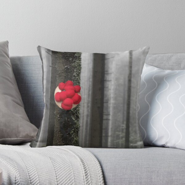 Black Forest Bollenhut hanging from a tree Throw Pillow