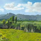 New Day at Kawanui (Left Panel of Triptych) by Wendy Roberts